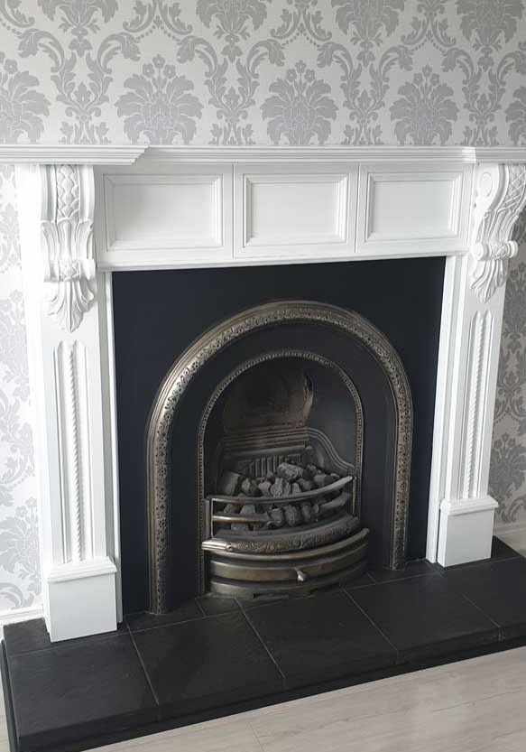 Resprayed Fireplace After